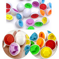 1 Pcs Nova Educação Aprendizagem brinquedos Forma Mista Sábio Finja Enigma Inteligente Ovos Do Bebê Kid Learning Kitchen Toys