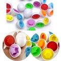 1 Unids Nuevos juguetes Educativos de Aprendizaje de Forma Mixta Wise Pretend Puzzle Inteligente Huevos Del Cabrito Del Bebé de Aprendizaje Cocina Juguetes