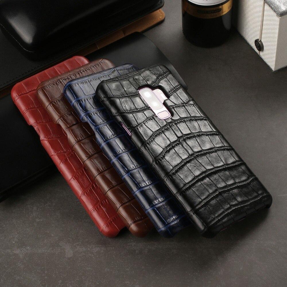 Роскошный чехол из натуральной кожи для Samsung Galaxy S9 Plus S9 + чехол из крокодиловой воловьей кожи Модный чехол для Samsung S9 Capa Case