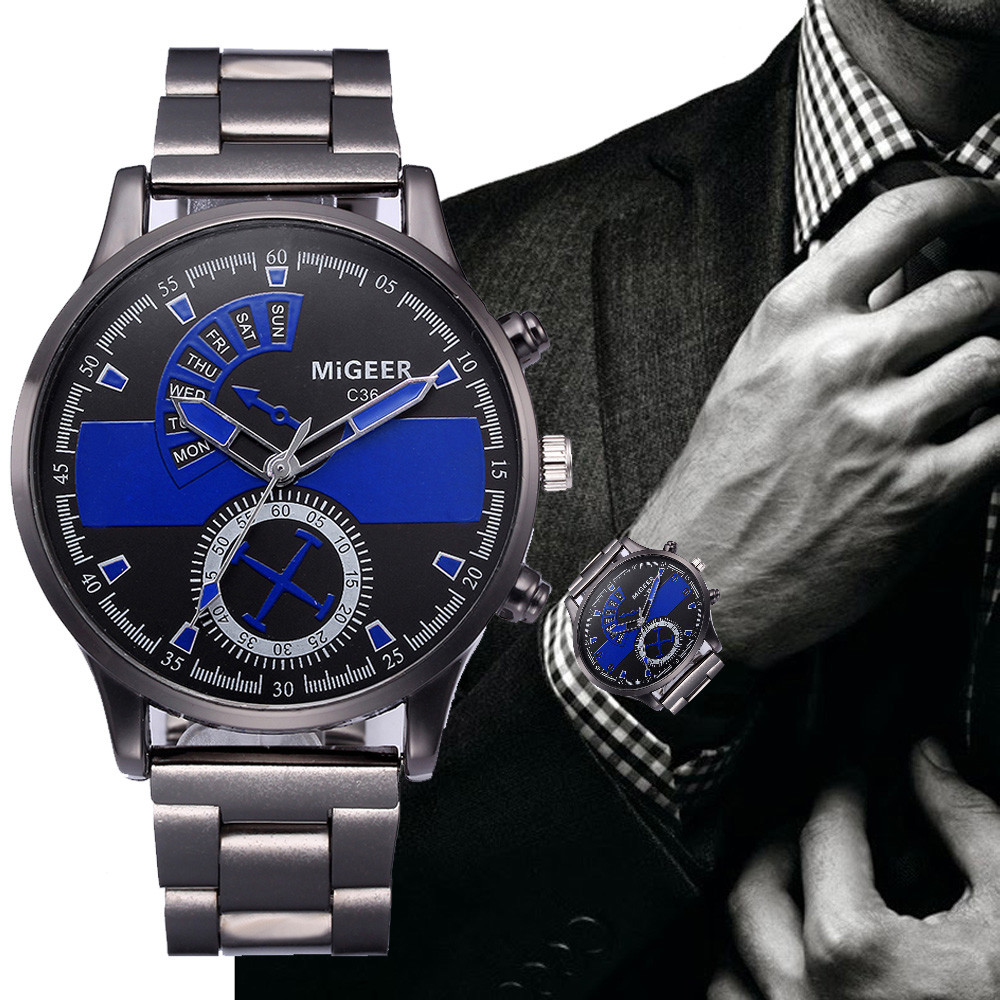 High Quality Clock Fashion Man Crystal Stainless Steel Analog Quartz Wrist Watch New Luxury Watch Wholesale Valentine Gift #20 100% authentic kingnuos men watch fashion couple high quality quartz clock watch band stainless steel man waterproof wrist watch