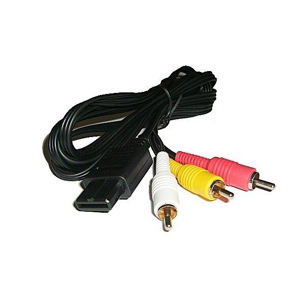 1 Unid Negro Selector 3 Puertos Video Juego Interruptor Cable AV RCA para Ninten