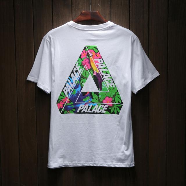Camisetas Masculinas Mens Camisetas Moda 2017 Novo High-end dos homens Da Marca T-shirtmoda Palácio Impressão Ocasional T camisa Curta