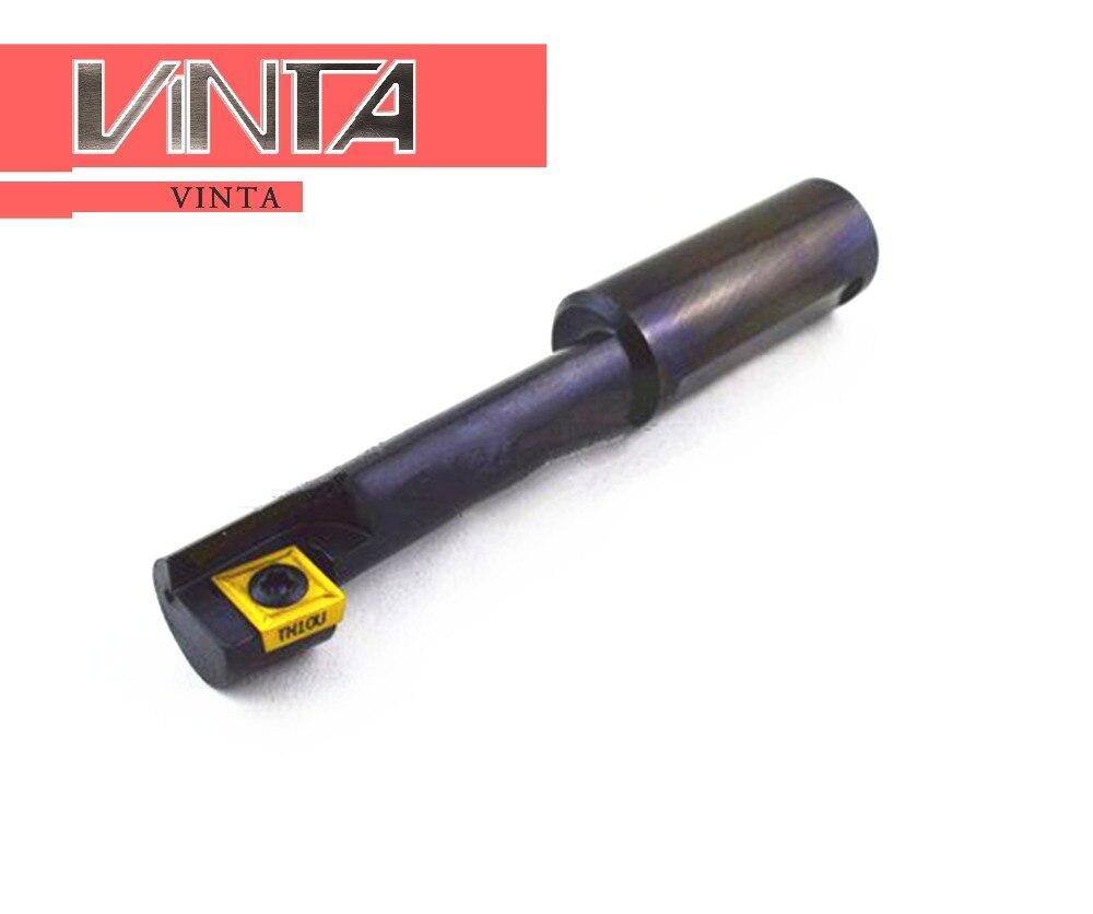 CNC M10 12 14 16 18 24 évier de comptoir arrière à jeter a pris des Inserts correspondants CCMT CCGT barre à outils de fraisage porte-fraise à rainurer