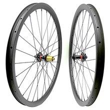 Углеродные mtb дисковые колеса 29er mtb колеса mtb велосипед 35x25 мм бескамерные горные велосипеды boost 110x15 148x12 mtb колеса