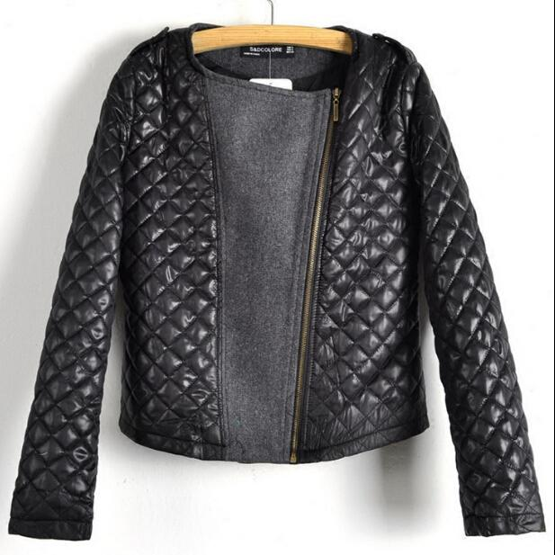 eee5b0033 Black Cool Zipper Women Coat Motorcycle Leather Jacket PU coat-in Basic  Jackets from Women's Clothing & Accessories