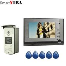 SmartYIBA przewodowy domofon Audio czat wideodomofon karta RFID odblokuj z 1/2 monitorami połączenie wideo dla prywatnego domu Night Vision