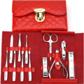 12pc Nail Art Manicure Set  Nail Care Tool with Nailb Cutter Clippers Scissor Tweezers with Leather Case