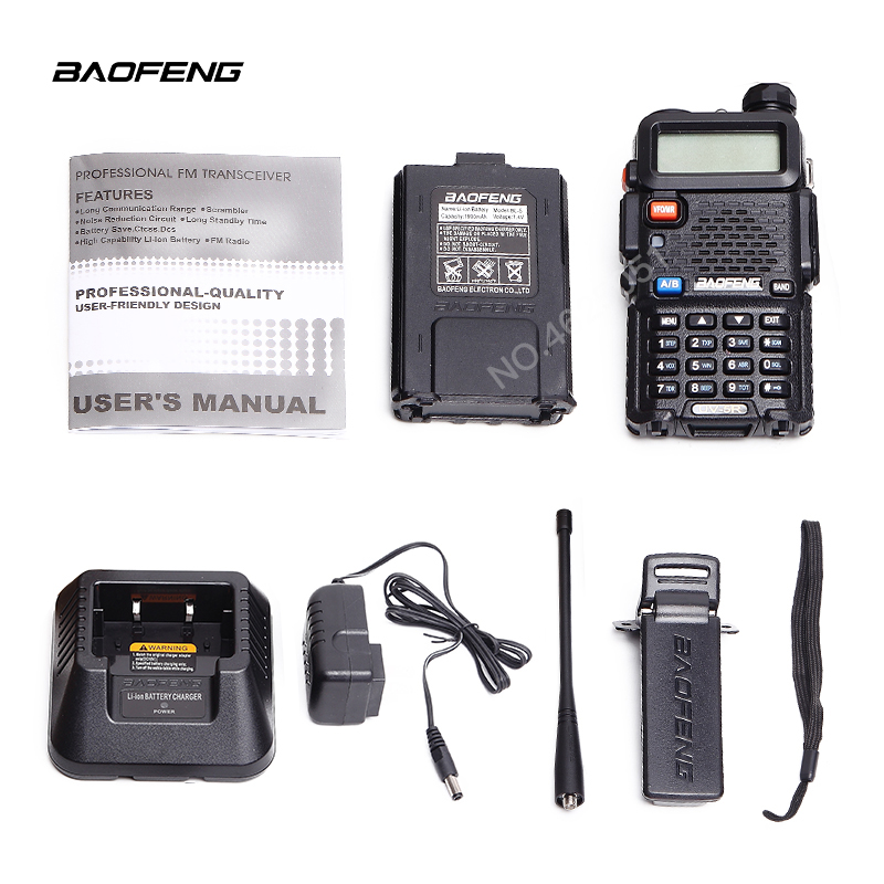 Image 4 - BAOFENG UV 5R Walkie Talkie Professional CB Radio 5W UV dual band two way radio for talkie walkie in moscow Hunting Ham Radio-in Walkie Talkie from Cellphones & Telecommunications