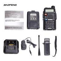 baofeng uv 5r uv Baofeng UV-5R מכשיר הקשר מקצועי CB רדיו 5W UV הלהקה כפול שני רדיו דרך מכשיר הקשר במוסקבה ציד Ham Radio (4)