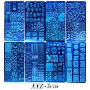 Image 4 - 1 conjunto prego placas de carimbo geometria laço flor sonho apanhador com jelly stamper scrapper esponja manicure imagem placa ferramenta ji804