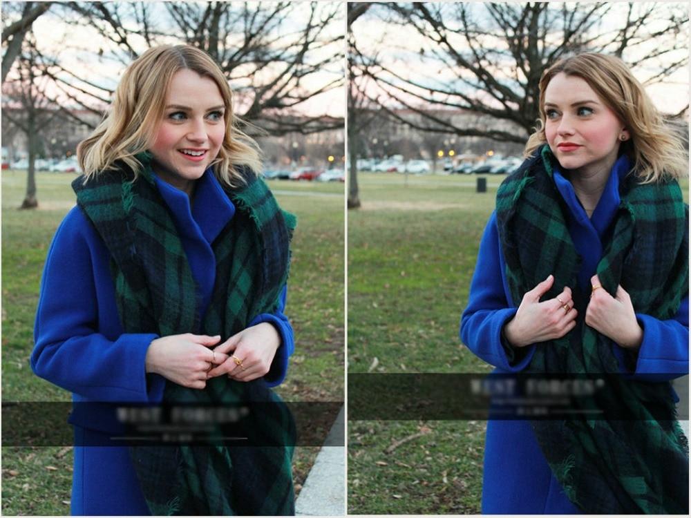 Sinplicity women blanket scarf green font b Tartan b font Shawl Christmas Gift Scarf