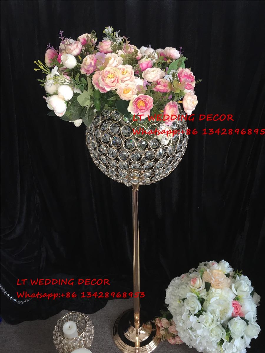 k5 crystal elegant wedding table centerpiece candle holder flower stand wedding pillar in Party