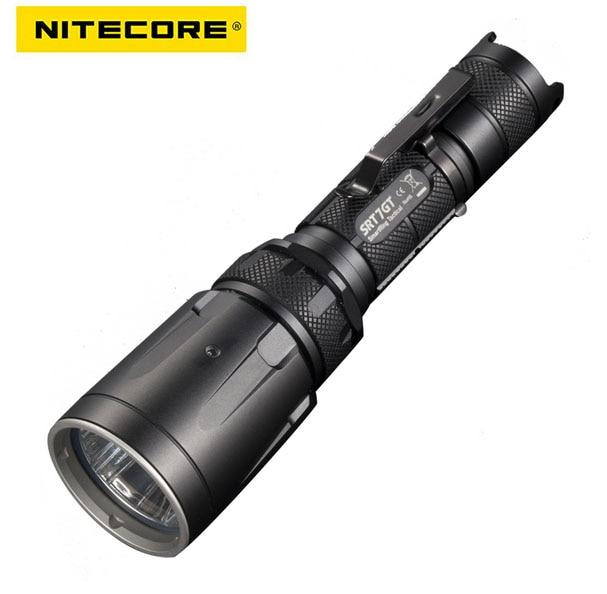 NiteCore SRT7GT Cree XP-L HI V3 1000LM Red Green Blue UV LED Flashlight by 18650 Battery for Camping