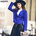 Europa e nos Estados Unidos cinto sapphire chic faux camurça perfil tipo jaqueta slim fit das mulheres curto outwear casaco