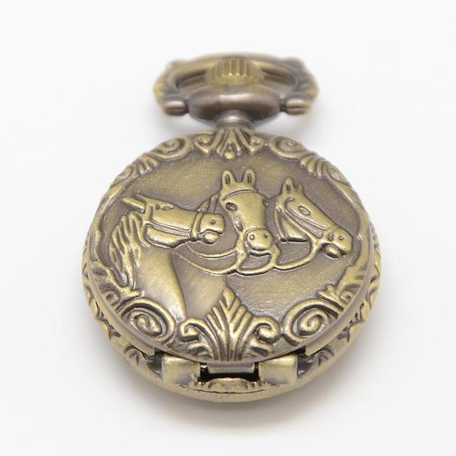 Vintage flat round carved horse alloy quartz watch heads for pocket vintage flat round carved horse alloy quartz watch heads for pocket watch pendant necklace making aloadofball Choice Image