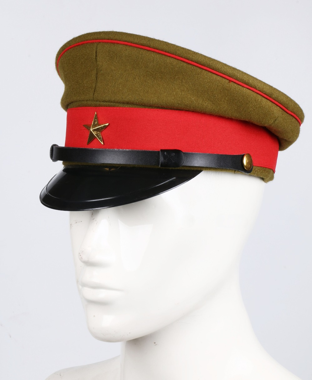 64ef2e1f5f7 WWII IMPERIAL JAPANESE ARMY OFFICER S WOOL VISOR CRUSHER CAP HAT IN  SIZES-in Military Hats from Apparel Accessories on Aliexpress.com