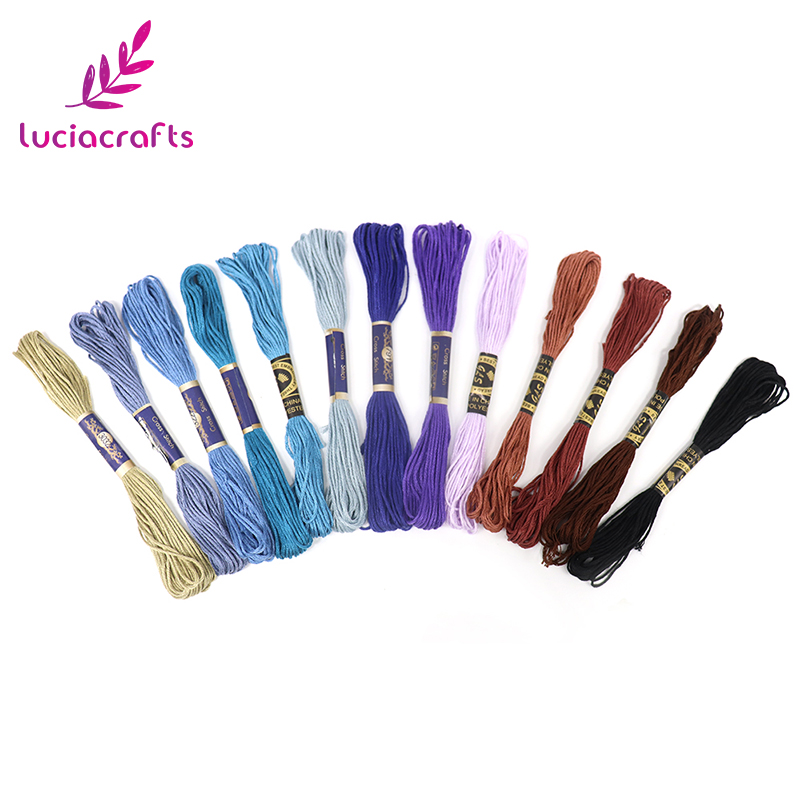Lucia crafts 45 шт. якорь подобная вышивка крестиком хлопок нить для вышивки нитью шитье, моток пряжи ремесло W0203