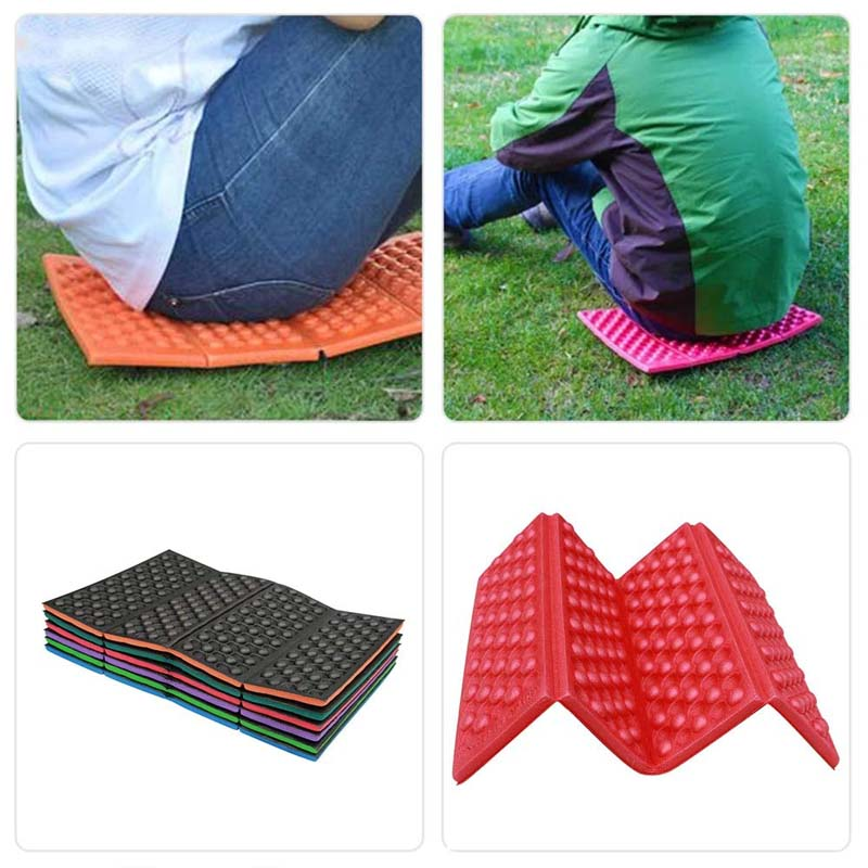 2 pcs Folding Foam Sit Mat for Camping Portable Waterproof Seat Outdoor Foldable Cushion Outdoor Seat Mat Beach Seat Pad Sitting Mat Hiking Thermally Insulated Folding Sit Mat