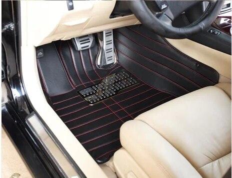Tapis de sol Auto CHOWTOTO AA pour tapis de sol de voiture Skoda Yeti 2012-2014 tapis en cuir résistant à l'usure tapis de voiture Skoda Yeti eco 2014