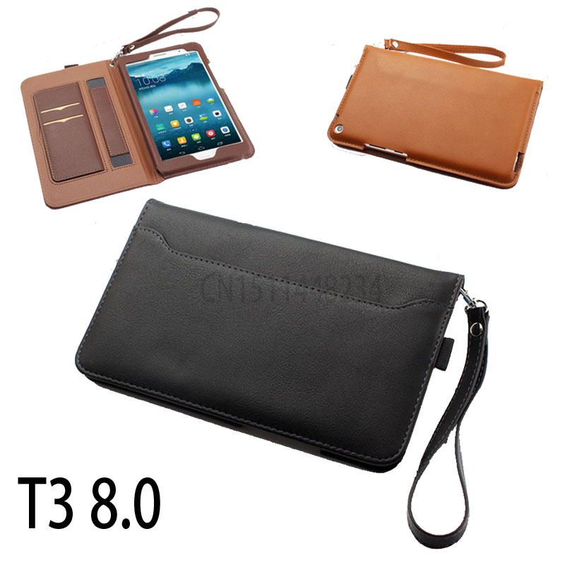 Portable Hand stand Magnetic Smart cover case For Huawei MediaPad T3 8.0 KOB-L09 KOB-W09 Tablet PU leather cover skin t3 8 inch coque smart cover colorful painting pu leather stand case for huawei mediapad m3 lite 8 8 0 inch cpn w09 cpn al00 tablet