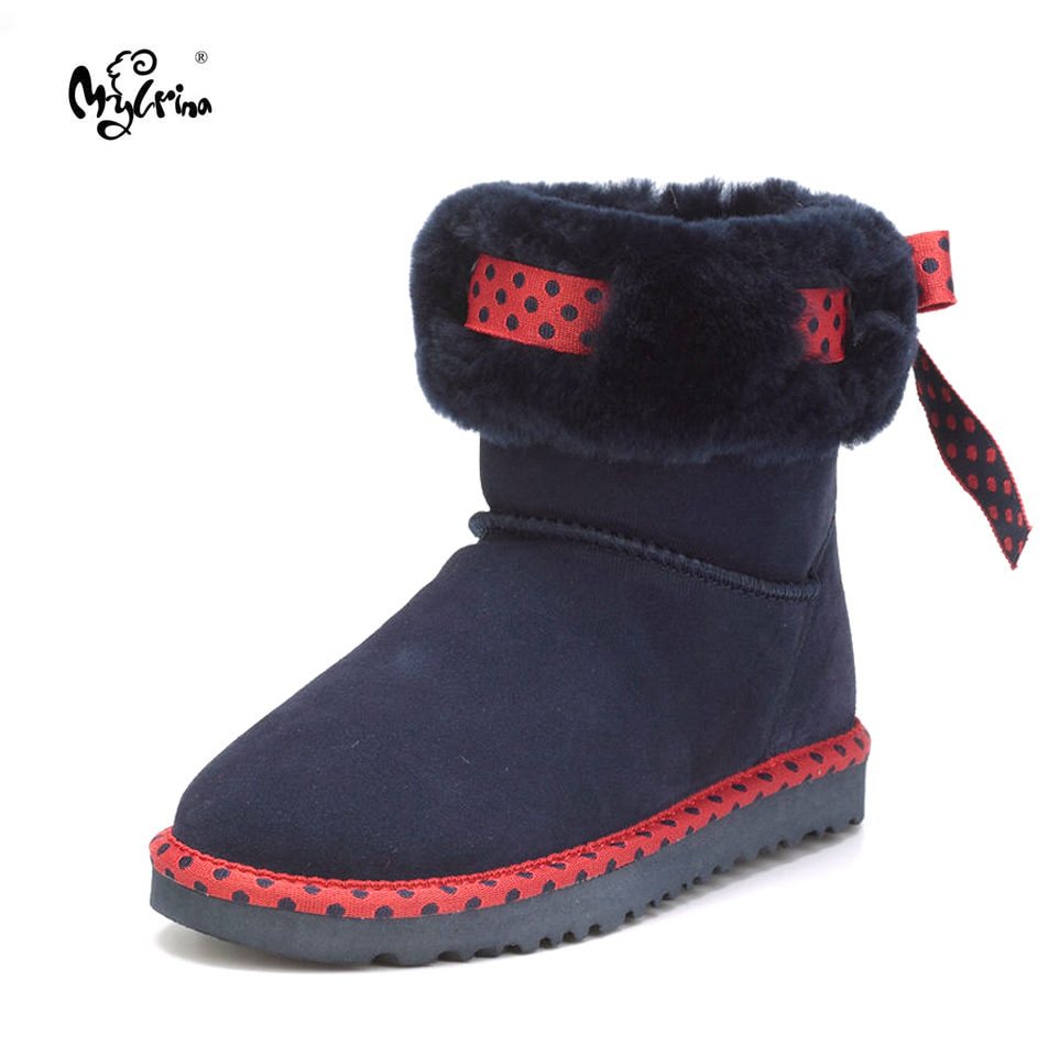 Top Brand New Fashion Real Fur Classic Mujer Botas Waterproof 100% Genuine Cowhide Leather Snow Boots Winter Shoes for Women free shipping top fashion new mujer botas 2016 winter women boots 100
