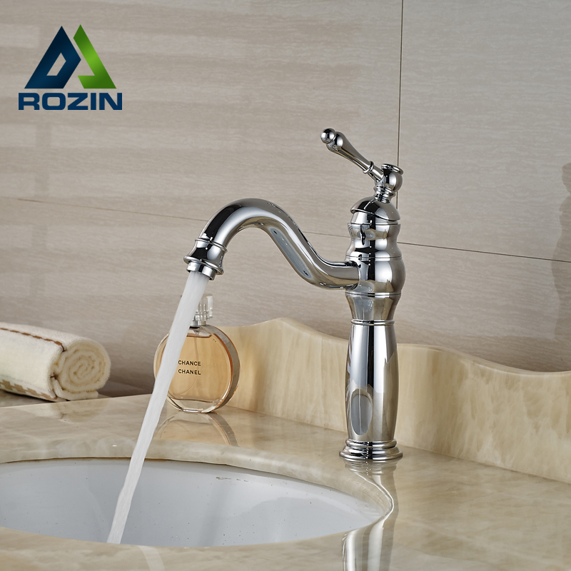 ФОТО Bright Chrome Single Lever Brass Basin Faucet Deck Mount Centerset Mixer Tap One Hole with Hot Cold Water