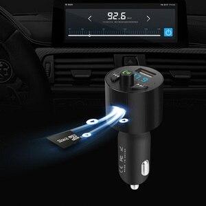 Image 2 - מטען לרכב Bluetooth MP3 מוסיקה נגן תמיכת TF כרטיס U דיסק MP3 WAV WMA FLAC APE CVC רעש דיכוי אוטומטי FM משדר