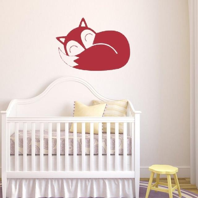 Cute Sleep Fox Wall Sticker Home Decor Kid Nursery Baby Room Wall ...