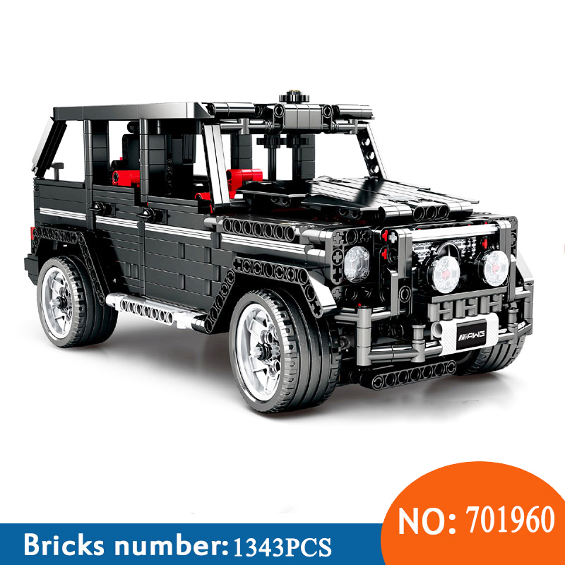 Sembo 701960 Technic série G500 mercedes desal-benzg big G modèle blocs de construction set jouets classiques pour enfants