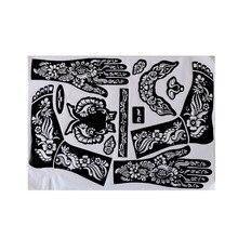 Руки/ноги бодиарт аэрографии менди шаблоны трафареты хной поставки татуировки профессиональный комплект