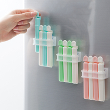 4Pcs/Lot Food Snack Storage Seal Sealing Bag Clips Sealer Clamp Food Bag Clips Kitchen Tool Home Food Close Clip Seal
