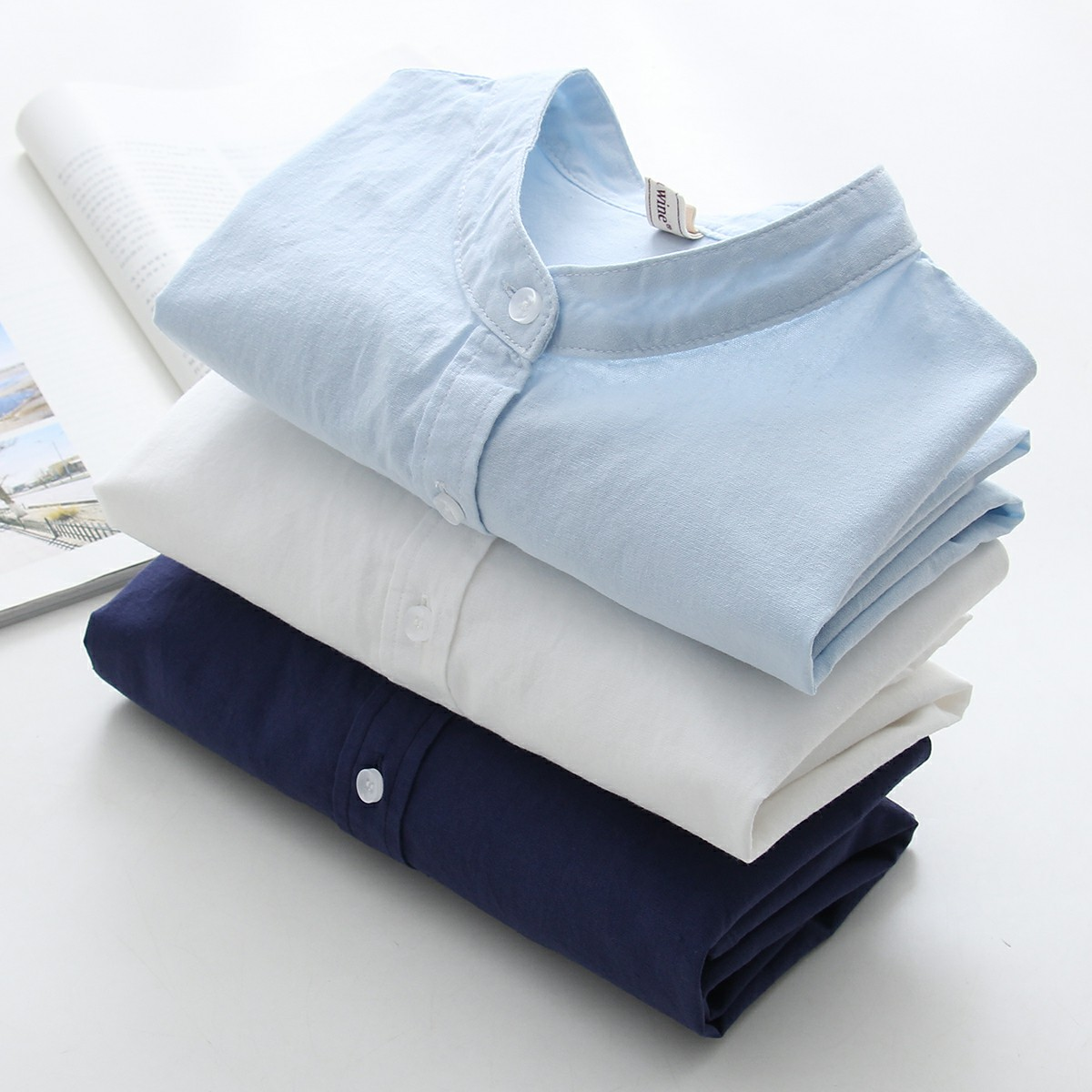Womens Tops And Blouses 2019 Fashion Women 100% Cotton Office Shirt Slim Long Sl