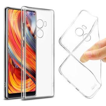 For Xiaomi Mi Mix 2 case iMAK Super-slim Stealth Soft Clear TPU Cover case for Xiaomi Mi Mix 2 Cover Case + Screen Protector