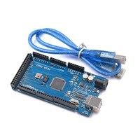 Free Shiping Mega 2560 R3 Mega2560 REV3 ATmega2560 16AU Board With USB Cable Compatible Good