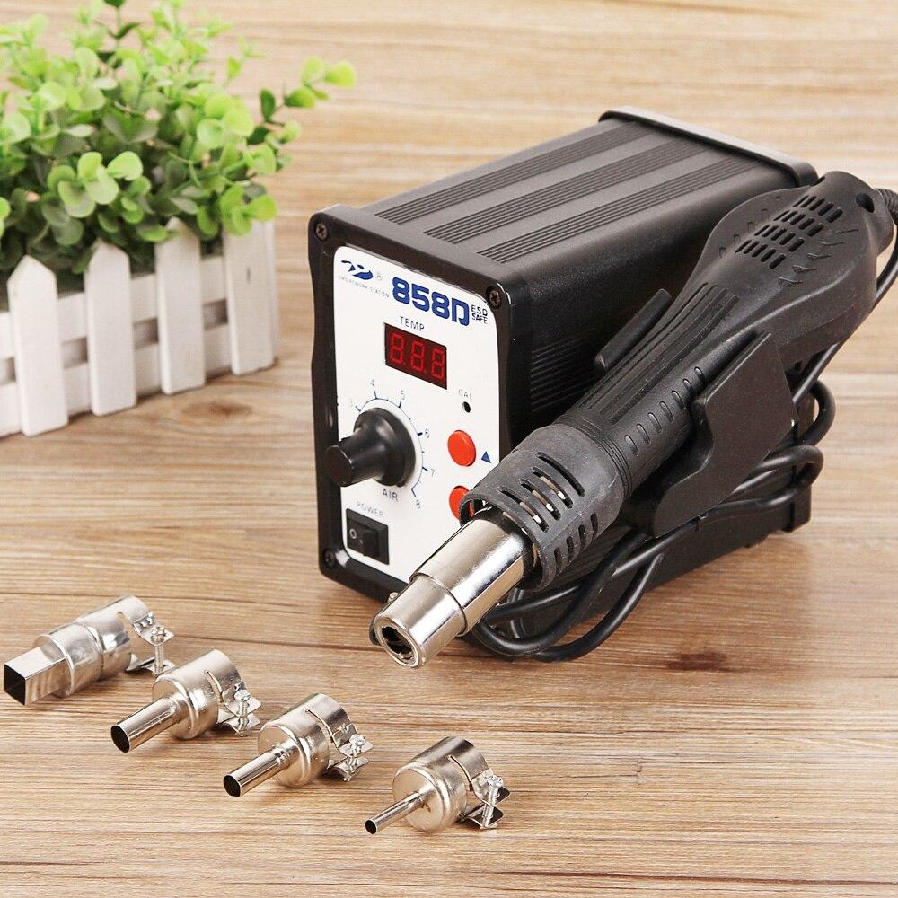 858D pistolet à Air chaud Station de soudage Station de reprise SMD pistolet antistatique numérique 220 V