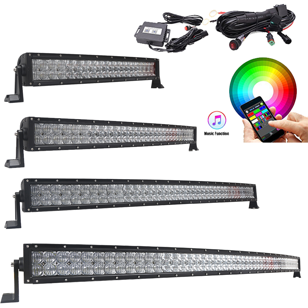 "2019 Fashion 14"" 22"" 32"" 42"" 50"" 52 Inch 2 Row 5d Led Light Bar For Offroad 4x4 4wd Atv Uaz 4wd Truck Led Work Lights 72w 120w 180w 240w 300w"