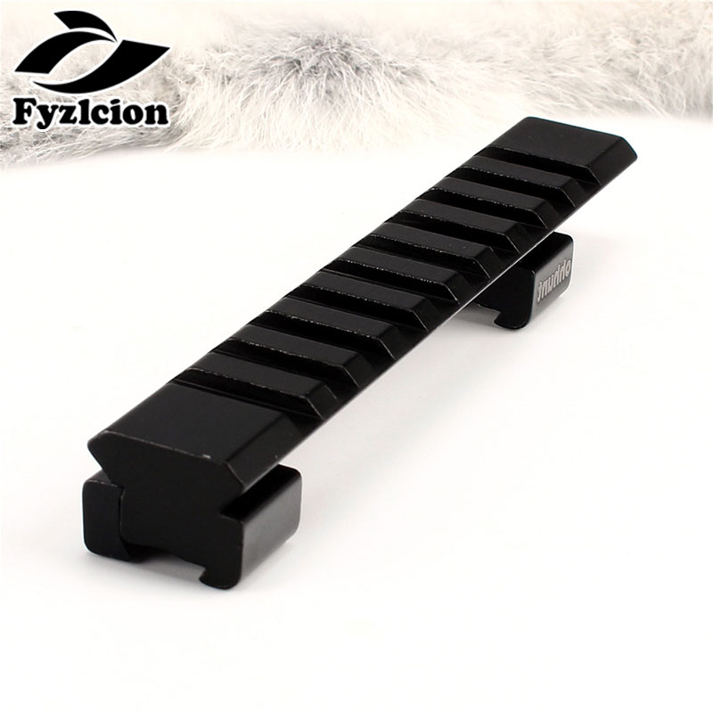 Hunting Air Gun Aluminum 11mm Dovetail To 20mm Picatinny Weaver Rail Mount Adapter 10 Slots 125mm Length For Rifle Scope