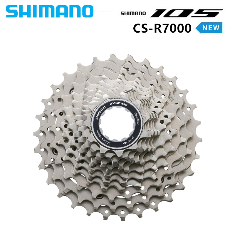 <font><b>2018</b></font> NEW SHIMANO <font><b>105</b></font> CS R7000 11 SPD Speed HG Cassette 11-28T 11-30T 11-32T 11-34T Road Bike Cycling freewheel 5800 image