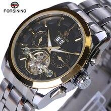 Original Forsining Men Mechanical Mens Watches Top Brand Luxury Full Steel Waterproof Business Automatic Wristwatches For Men