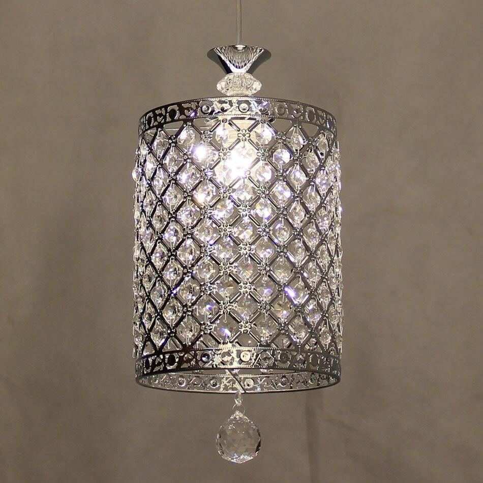 Modern led crystal chandelier lamp, Chrome color E27 lamps, mini K9 crystal chandelier lights bedroom restaurant crystal lamp