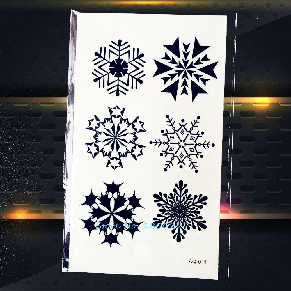 R166 10 De Desconto1 Pc Estilo Do Inverno Do Floco De Neve Etiqueta Do Tatuagem Paq 011 Crianças Xmas Presentes De Natal Projeto Do Tatuagem Pasta