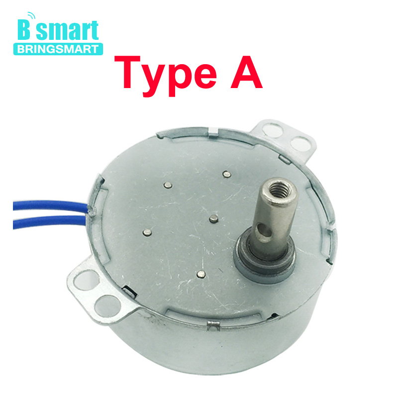 BringSmart 5-24v 110v 220v 1.4 2 4 8 10 15 20 30 48 60rpm Crafts Rotate Exhibition Fan Microwave Oven Gear AC Synchronous <font><b>Motor</b></font> image