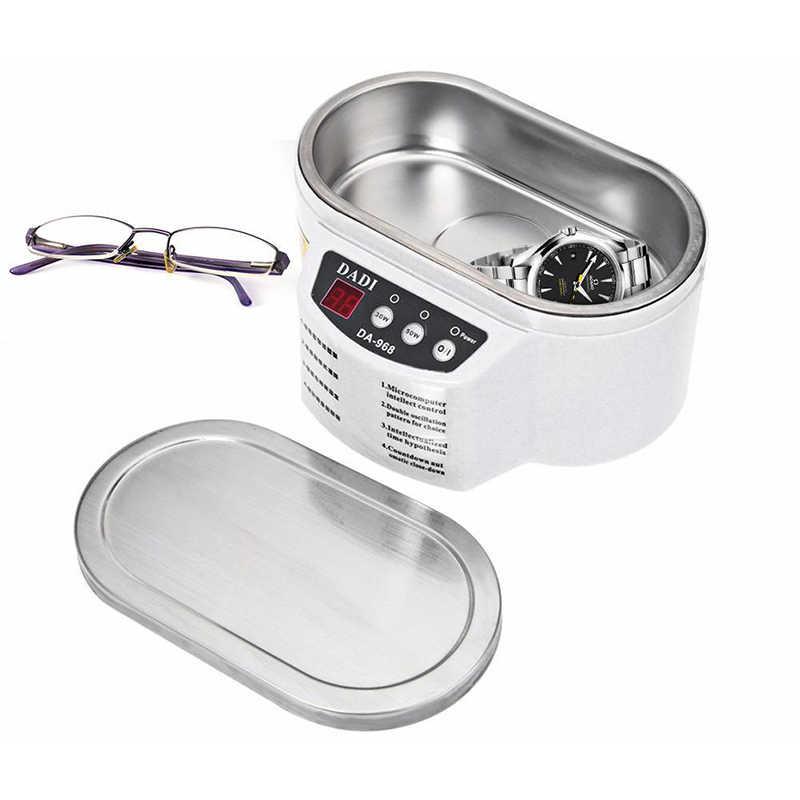 Мини Ультразвуковой очиститель Ванна для очистки ювелирных изделий очки