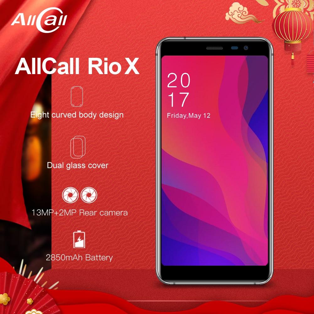 Allcall Rio X MTK6580 Quad Core 1 GB 8 GO Android 8.1 18:9 5.5 Pouces Caméra 13MP + 2MP 2850 mAh 3G Smartphone