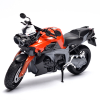 Red Sportster 1 32 Motorcycles Diecast Metal Plastic Model Toy Static Display Racing Motor In Box