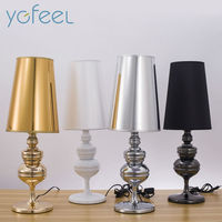 [YGFEEL] Modern Simple Guard Table Lamps Living Room Bedroom Reading Lamp Desk Lamps E27 Holder European/American Standard Plug