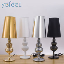 Modern Simple Guard Table Lamps Living Room Bedroom Bedside Light Study Reading Desk Lamp 90-260V E27 Golden Silver Light Body