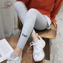 Pantalones capri mallas Streetwear de algodón para mujer, ajustados, de alta elasticidad y buena calidad, primavera y verano, 2019