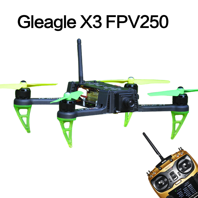 Free Shipping Global Eagle X3 FPV250 Quadcopter RTF Drones Set W/ Hand Carry Case( 9CH RC /CC3D /2206 Brushless Motor /15A ESC)  global eagle 2 4g 480e dfc 9ch rc helicopter remote 3d drones rtf set 9ch rc 1700kv motor 60a esc carbon fiber body