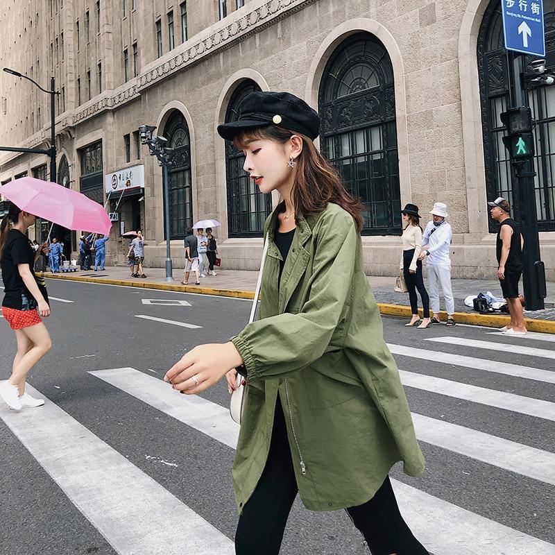 Étudiants Manteaux Longue Tranchée Manteau Nouveau Femmes Noir F5204 Automne Paragrapholing Blanc Lâche 2018 Dans xqvS4w0Ft4
